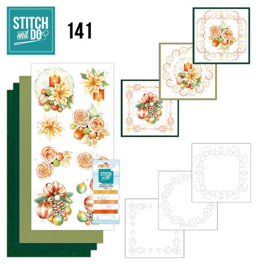 Stitch and Do 141 -Jeanine's Art - Salmon Christmas Baubles