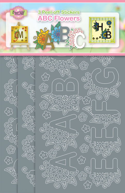 3-Pack ABC Flowers Silver