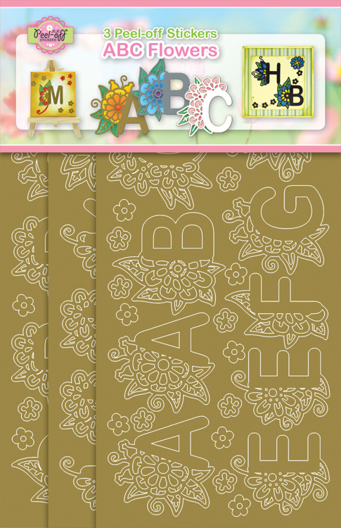 3-Pack ABC Flowers Gold