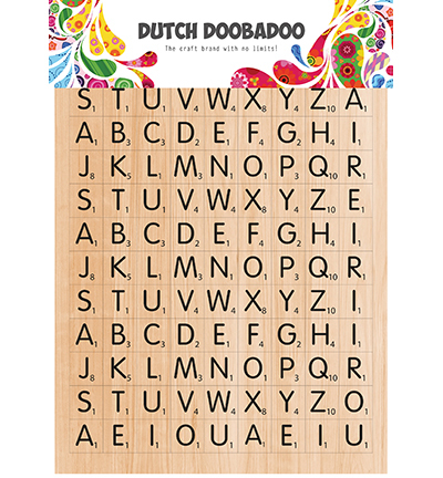 DDBD Dutch Sticker Art Scrabble