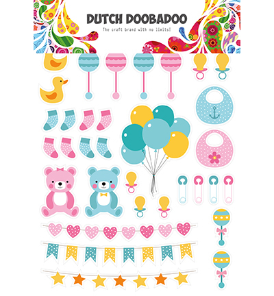 DDBD Dutch Paper Art Baby elements