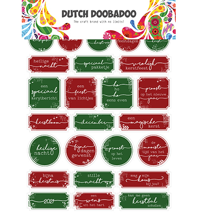 DDBD Dutch Sticker Art Christmas