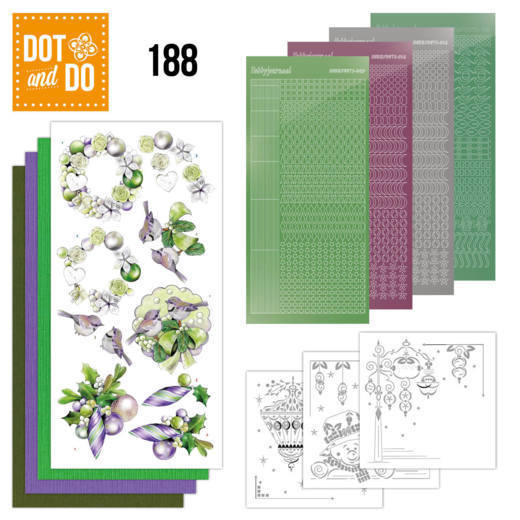 Dot and Do 188 - Jeanine's Art - Purple Christmas Baubles
