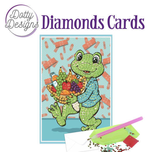 Dotty Designs Diamonds Cards - Get Well Frog