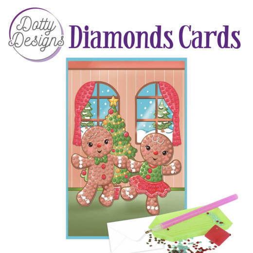 Dotty Designs Diamonds Cards - Gingerbread Dolls