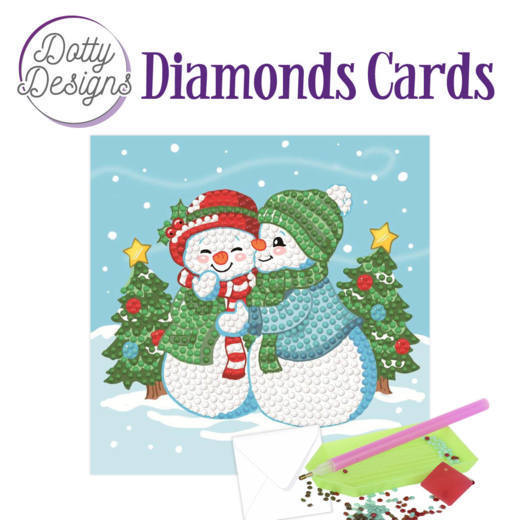 Dotty Designs Diamonds Cards - Two Snowmen