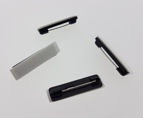 Brochespelden zwart met zelfklevend foam 32mm 4 ST 11808-1163