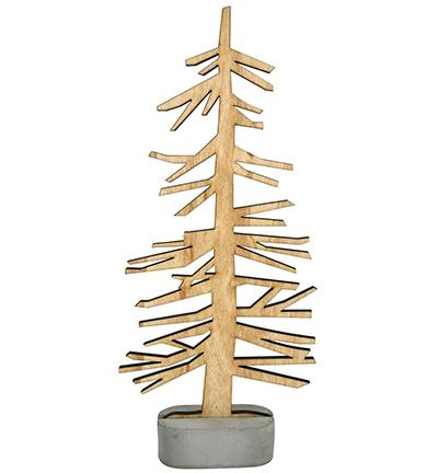 wooden tree, 23x10cm