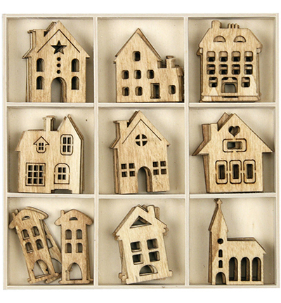 Wooden house 5x9pcs