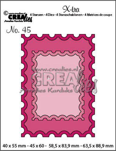 Crealies Xtra ATC postzegel + kleine postzegel CLXtra45 40x55mm - 63,5x88,9mm (09-20)