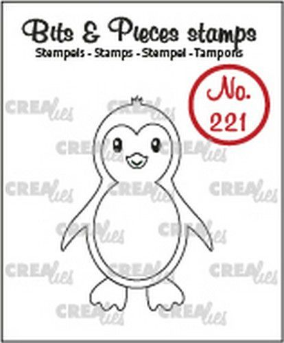 Crealies Bits & Pieces Pinguïn CLBP221 30x42mm (09-20)