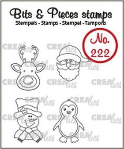 Crealies Bits & Pieces Mini rendier, kerstman, pinguïn CLBP222 4x max 15x20mm (09-20)