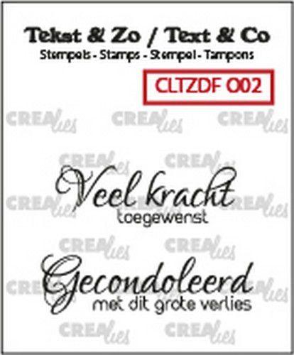 Crealies Clearstamp Tekst & Zo Duo Font Overlijden 02 (NL) CLTZDFO02 34x12mm - 40x11mm (09-20)