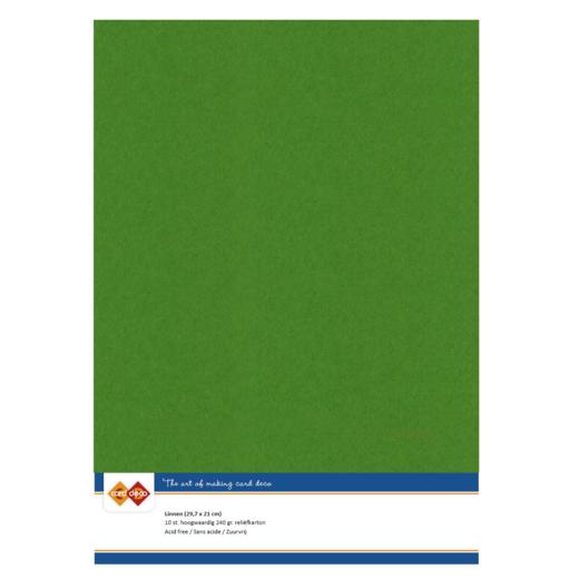 Linnenkarton - A4 -Fern Green