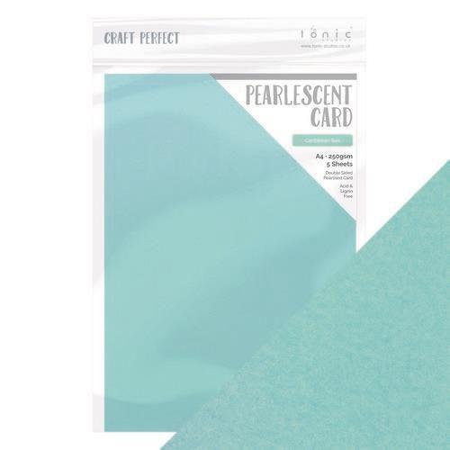 Tonic pearlescent karton - Caribbean sea  5 vl A4 9517E (10-20)