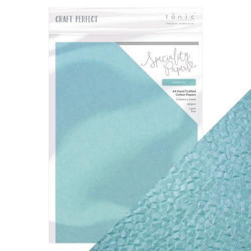 Tonic Studios  handmade paper - Artic Ice  A4 5 vl 9889E (10-20)