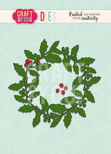 Craft&You Cutting Die Kerst krans CW090 (09-20)