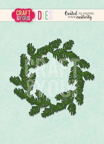 Craft&You Cutting Die Conifer krans CW093 (09-20)