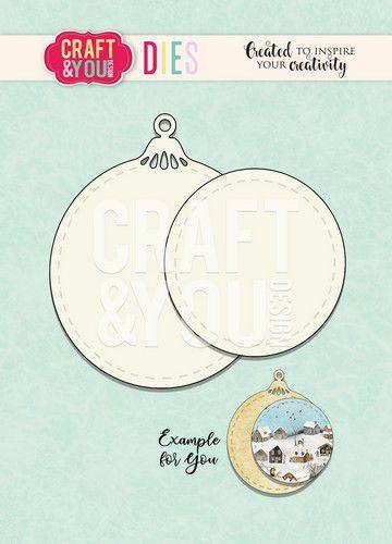 Craft&You Cutting Die Kerstbal CW095 (09-20)