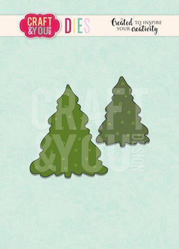 Craft&You Cutting Die kerstbomen CW096 (09-20)