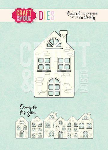 Craft&You Cutting Die Huisje CW100 (09-20)