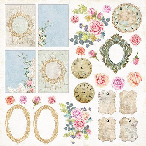Craft&You Gone with the Wind sheet elements to cut out 12x12 CP-GWW07 (09-20)