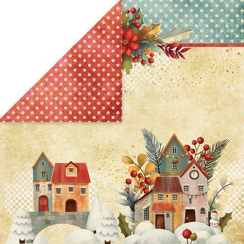 Craft&You Colors of Christmas Scrapbooking single paper 12x12 CP-CC01 (09-20)