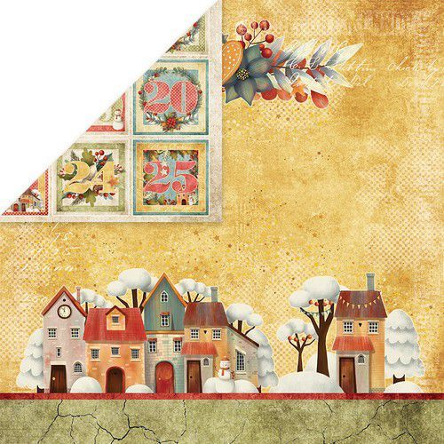 Craft&You Colors of Christmas Scrapbooking single paper 12x12 CP-CC03 (09-20)