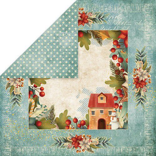 Craft&You Colors of Christmas Scrapbooking single paper 12x12 CP-CC04 (09-20)