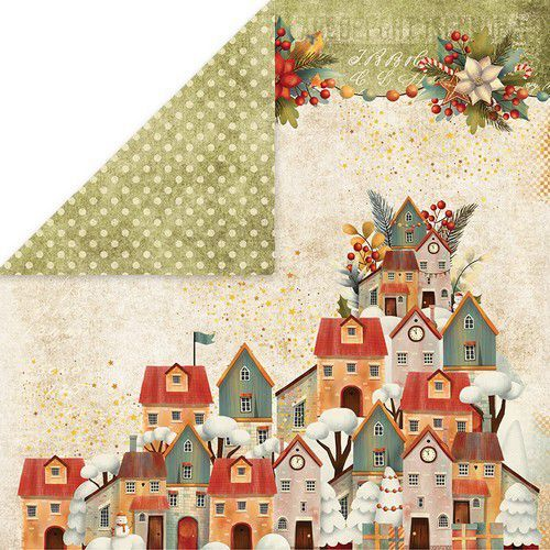 Craft&You Colors of Christmas Scrapbooking single paper 12x12 CP-CC05 (09-20)