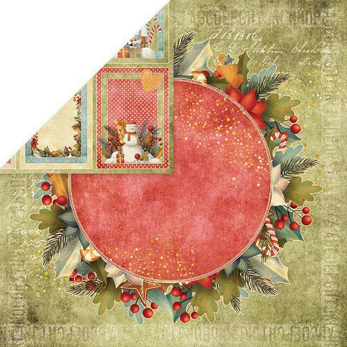 Craft&You Colors of Christmas Scrapbooking single paper 12x12 CP-CC06 (09-20)