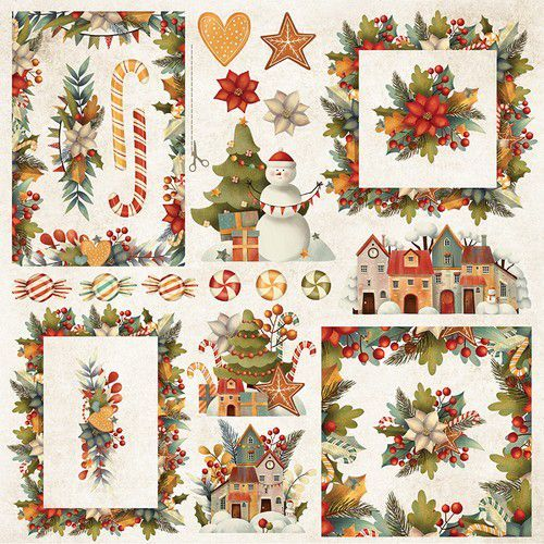 Craft&You Colors of Christmas sheet elements to cut out 12x12 CP-CC08 (09-20)