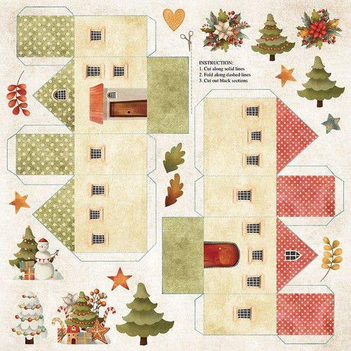 Craft&You Colors of Christmas sheet elements to cut out 12x12 CP-CC09 (09-20)