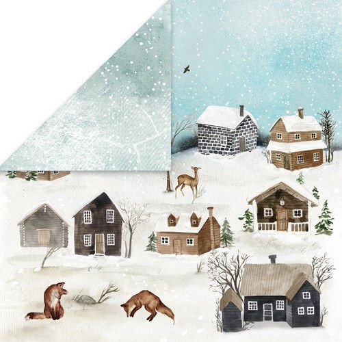 Craft&You Winter Holiday Scrapbooking single paper 12x12 CP-WH01 (09-20)