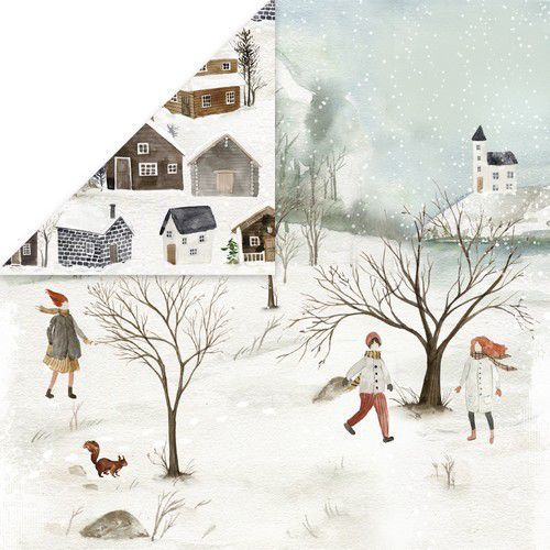 Craft&You Winter Holiday Scrapbooking single paper 12x12 CP-WH02 (09-20)