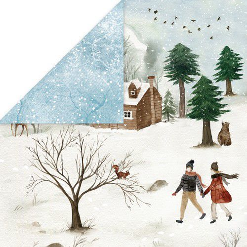 Craft&You Winter Holiday Scrapbooking single paper 12x12 CP-WH05 (09-20)