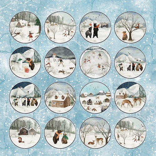 Craft&You Winter Holiday sheet elements to cut out 12x12 CP-WH07 (09-20)