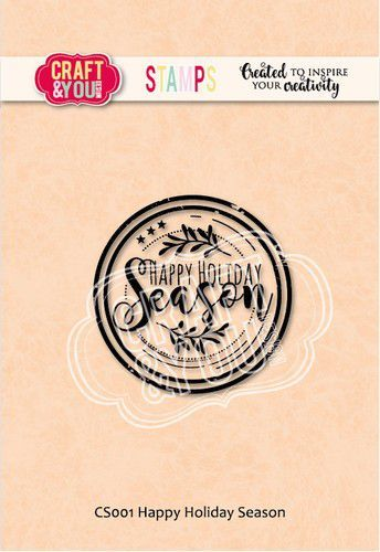 Craft&You Clearstempel Happy Holiday Season CS001 (09-20)