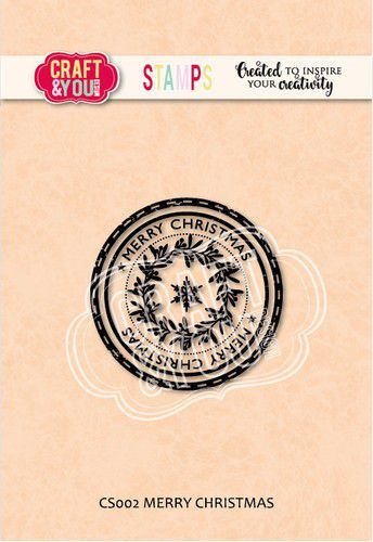 Craft&You Clearstempel Merry christmas CS002 (09-20)