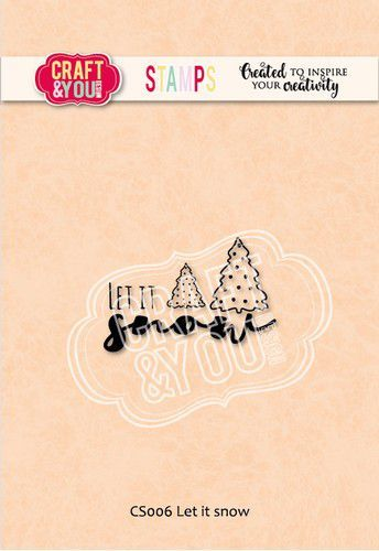Craft&You Clearstempel Let it snow CS006 (09-20)