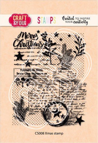 Craft&You Clearstempel Xmas Stamp CS008 (09-20)