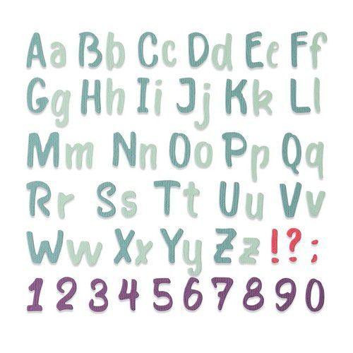 Sizzix Thinlits Die - Bold Brush Alphabet 664491 Sophie Guilar (10-20)