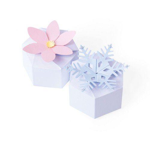 Sizzix Thinlits Die Set - 4PK Box Seasonal Hexagon 664493 Georgie Evans (10-20)
