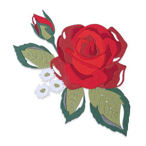 Sizzix Thinlits Die Set - 14PK Layered Rose 664496 Lisa Jones (10-20)