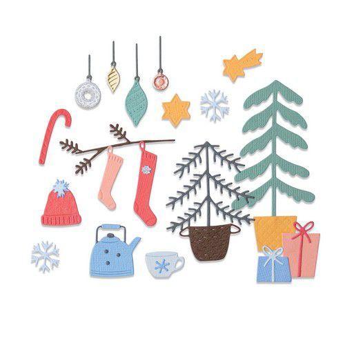 Sizzix Thinlits Die Set - 22PK Christmas Cheer 664497 Olivia Rose (10-20)