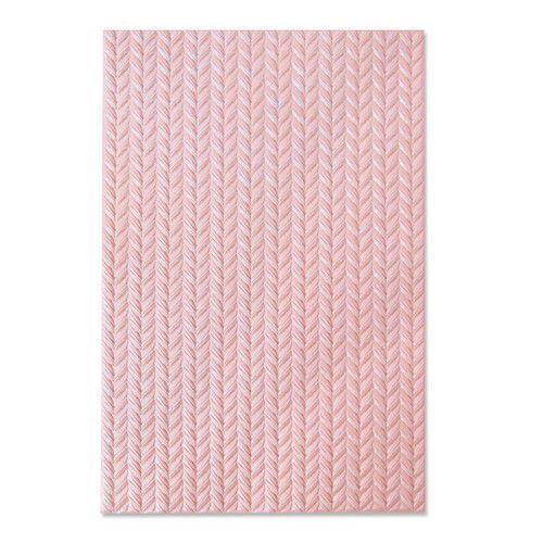 Sizzix 3-D Textured Impressions Embossing Folder - Knitted 664509 Jessica Scott (10-20)