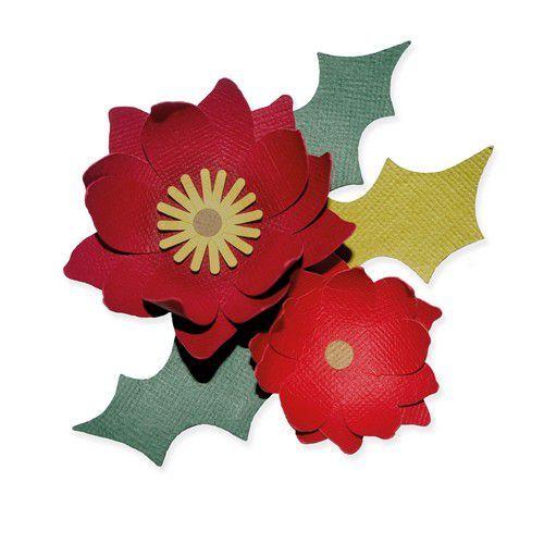 Sizzix Bigz Die - Winter Poinsettia 664513 Lisa Jones (10-20)
