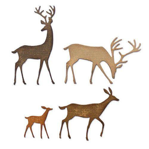Sizzix Thinlits Die Set - 4PK Darling Deer 664968 Tim Holtz (10-20)