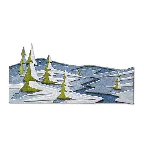 Sizzix Thinlits Die Set - 6PK Snowscape Colorize 664971 Tim Holtz (10-20)