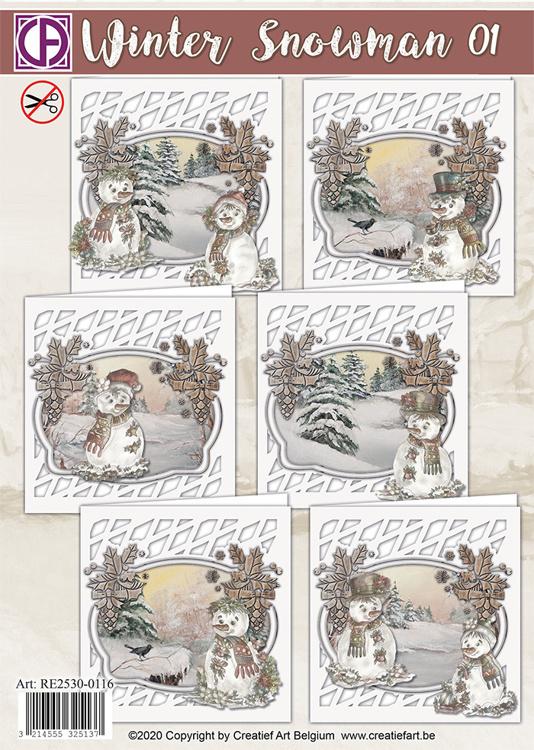 Winter snowman 01 - Kaartenpakket